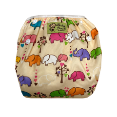 Size Adjustable Swim Diaper - Elephants