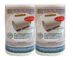 Raf Raf Eco-Bamboo Flushable Diaper Liner (2 for $18)