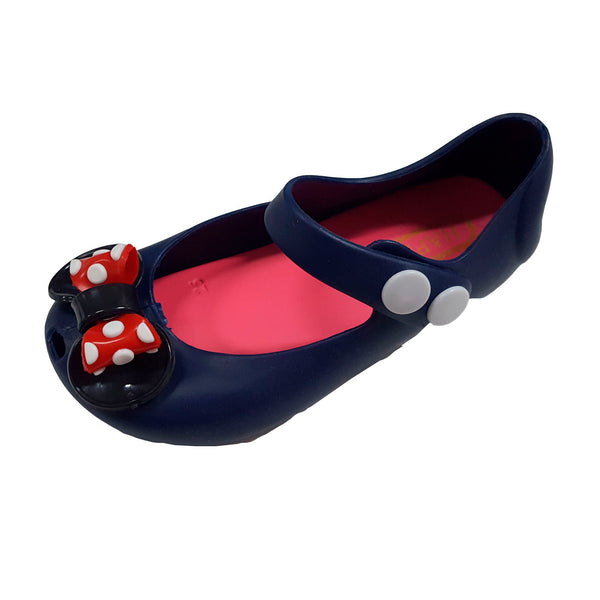 T096 Minnie Ribbon Navy (1-4y) New!