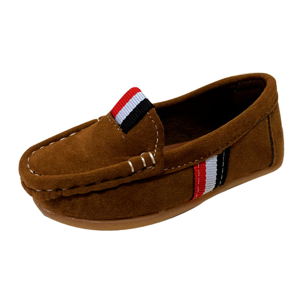 S168 Moccasin Softee Suede-Brown (EU21-30)