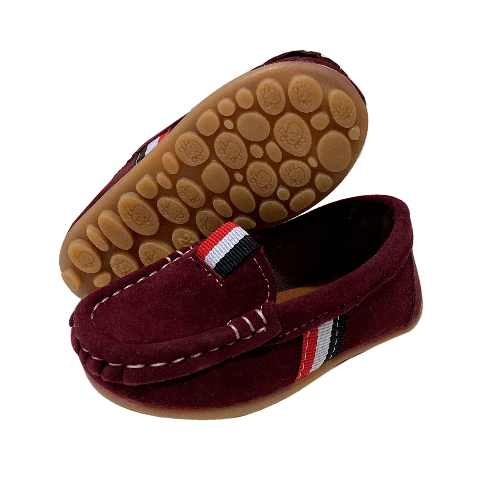 S168 Moccasin Softee Suede-Red (EU21-25)