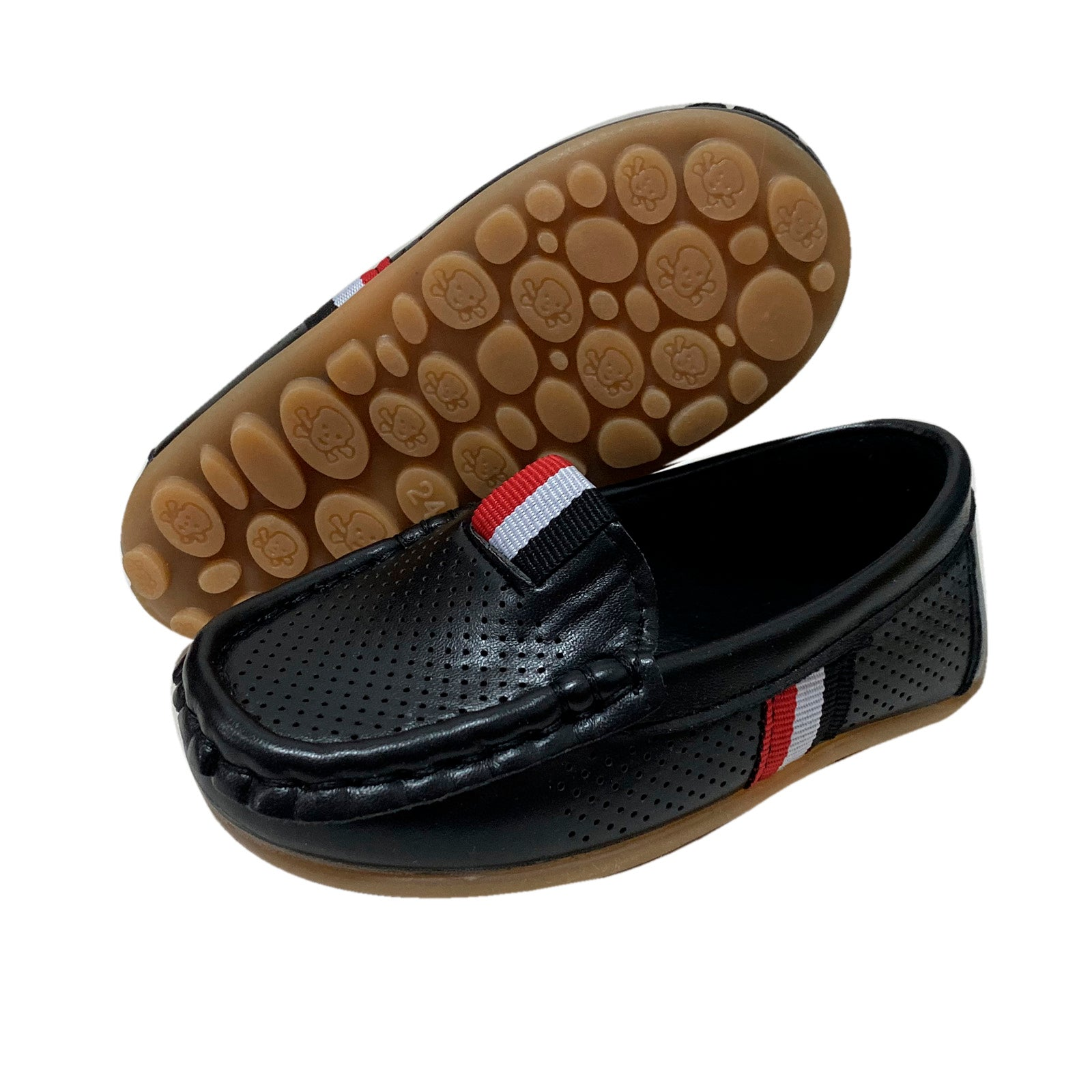 S168 Moccasin Softee Tri-Black (EU21-30)
