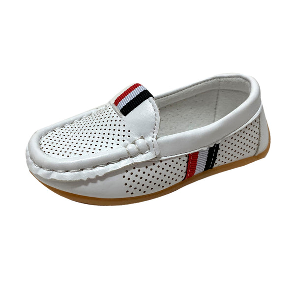 S168 Moccasin Softee Tri-White (EU21-30)