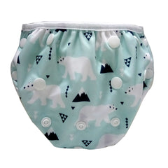 Adjustable Swim Diaper Cum Waterproof Diaper Cover - Polar Bear