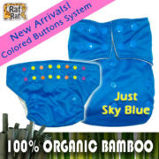 Raf Raf Bamboo Cloth Diaper - Single Pack (Many Colours Available)