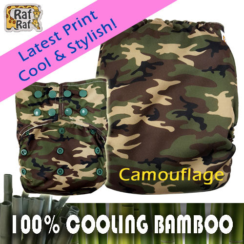 3pc Trial Pack Raf Raf Bamboo Cloth Diaper