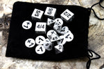 Counter And Dice Set With Black Resin