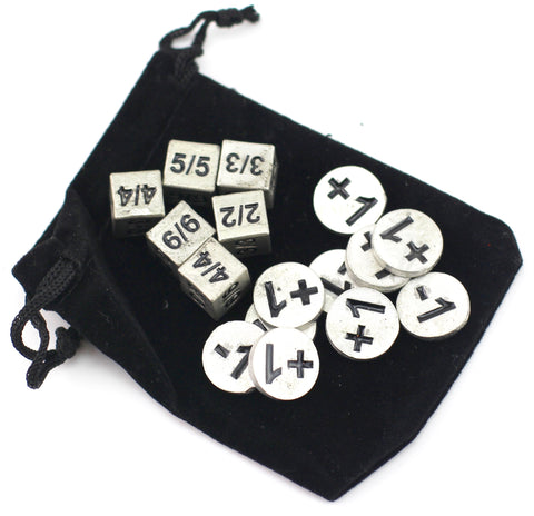 Token Dice And Counter Set With Black Resin