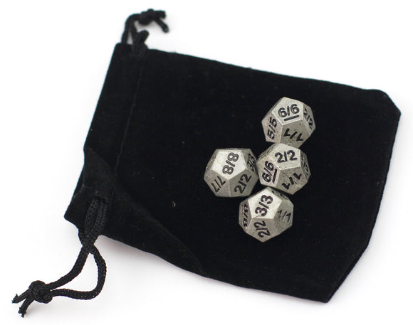 Set Of 4 Token D12 - Resin