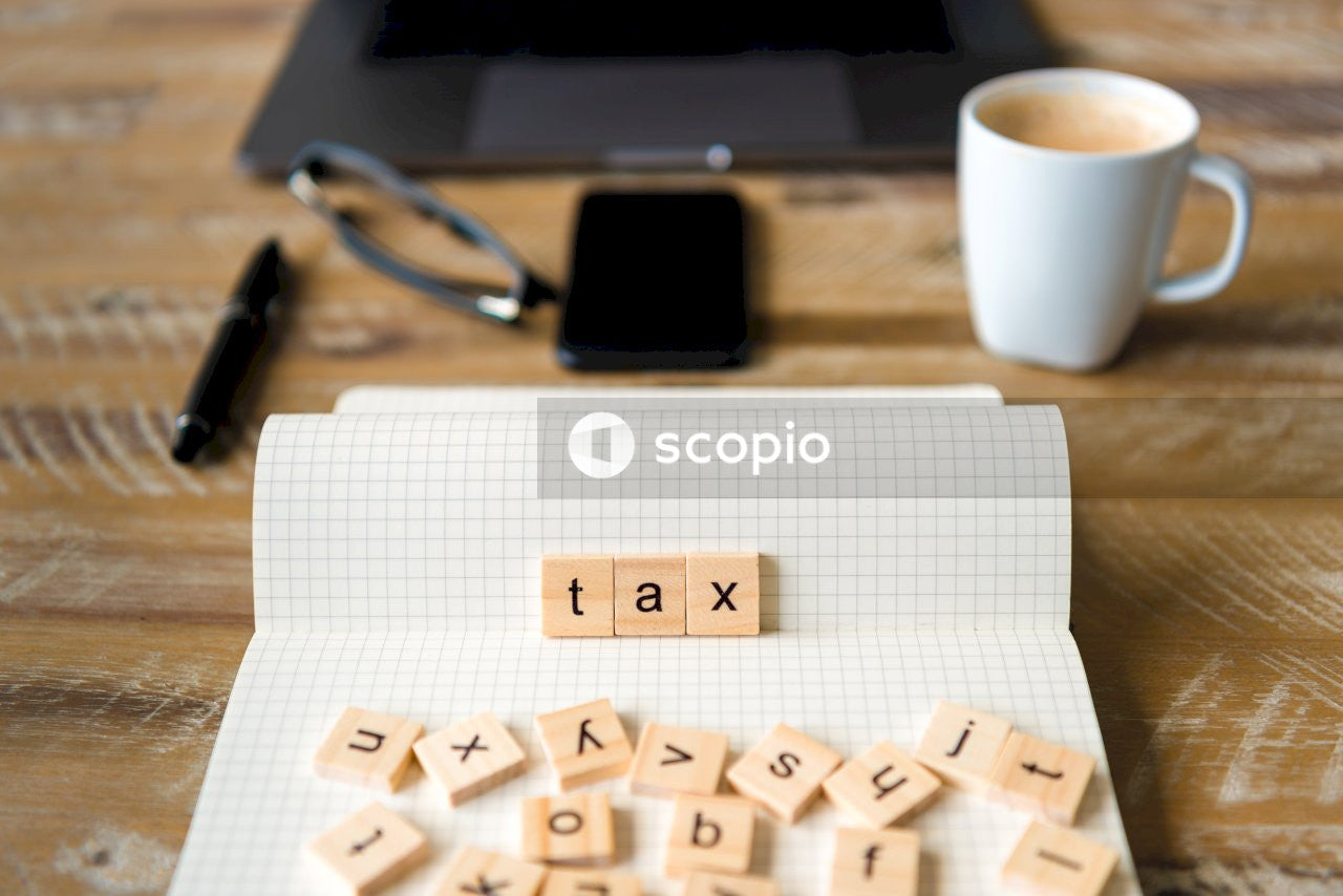 Tax scrabble on paper