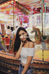 Selective focus photography of woman in cold-shoulder top
