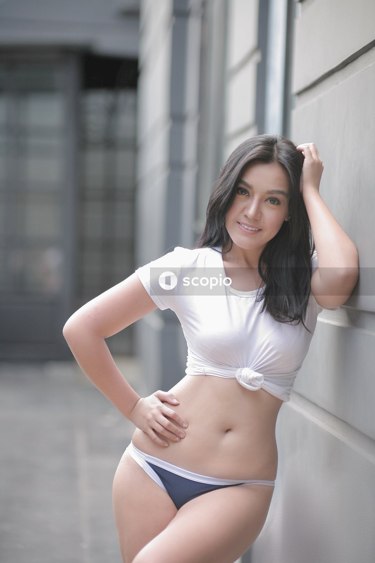 Woman giving pose