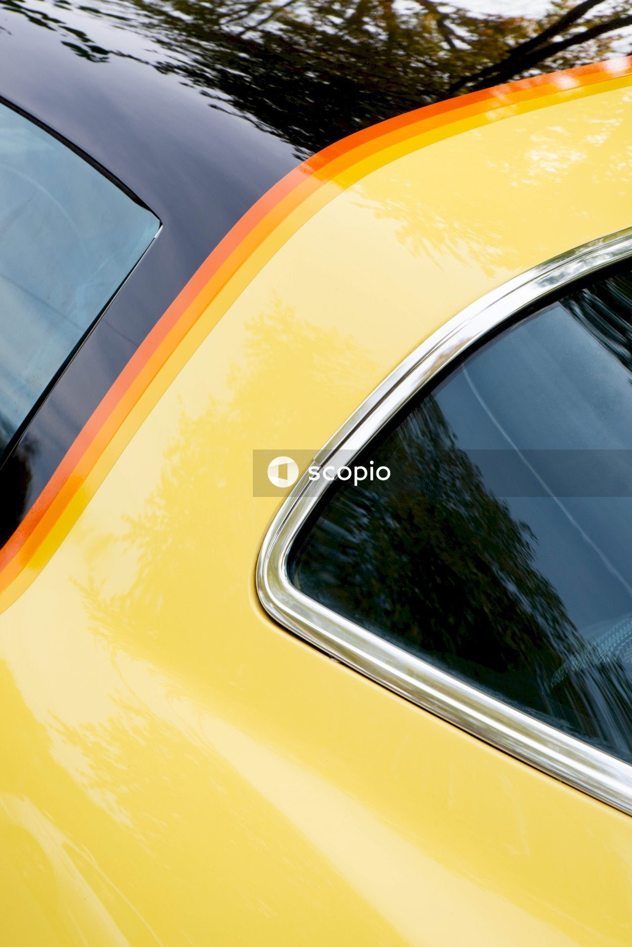 Yellow and silver car door