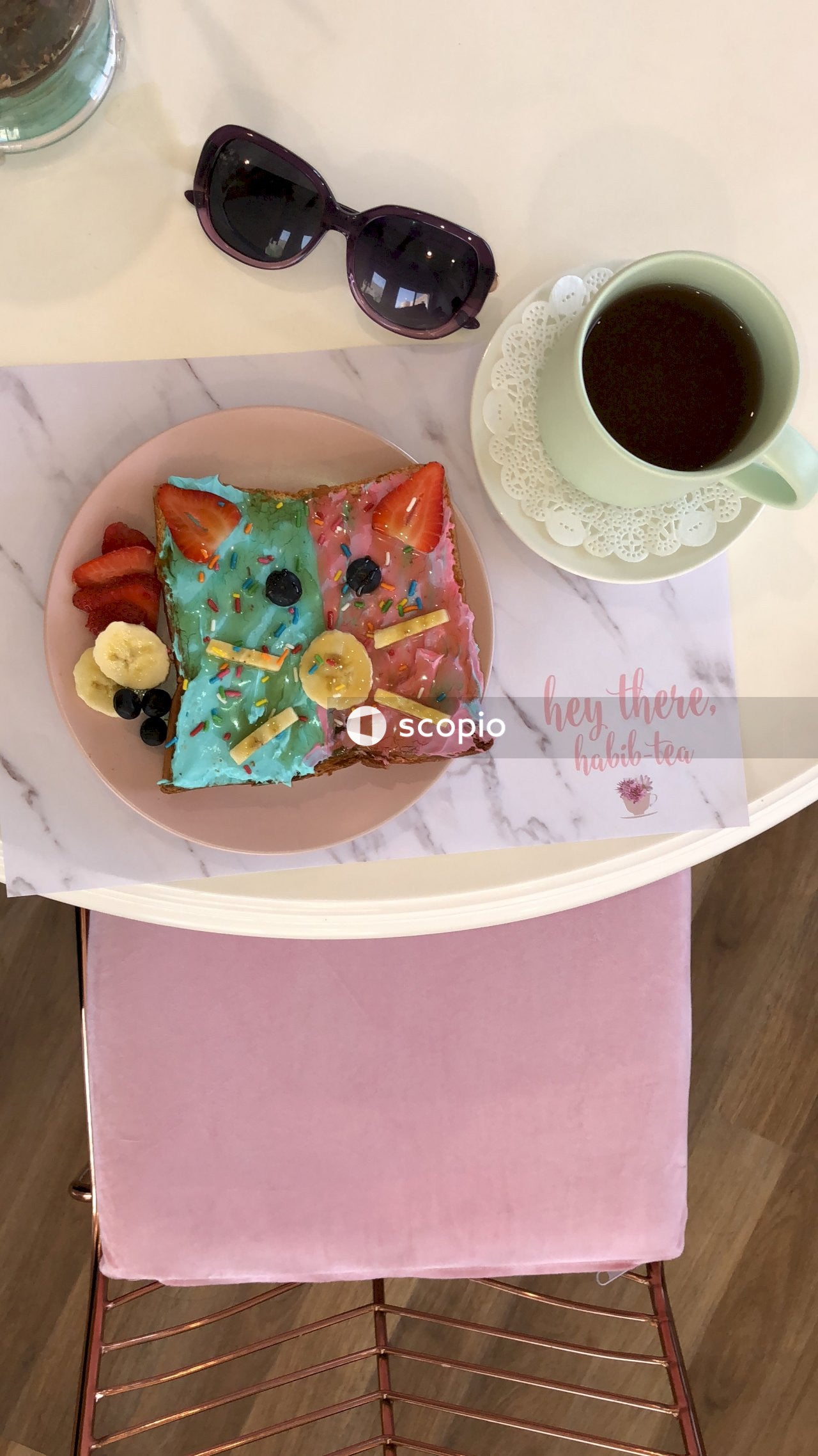 Foods on table