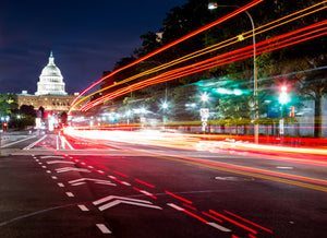 Light Trails At The Capitol