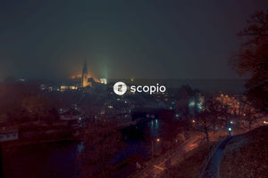 Aerial photography of a city during nighttime