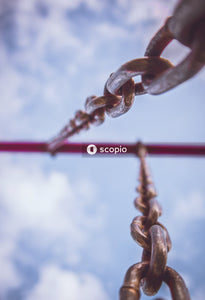 Brown rope on red wire
