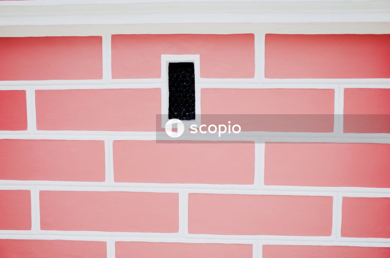Black square frame on pink wall