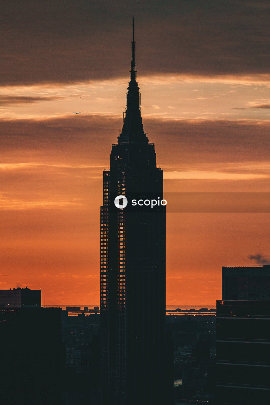 Empire state building during golden hour