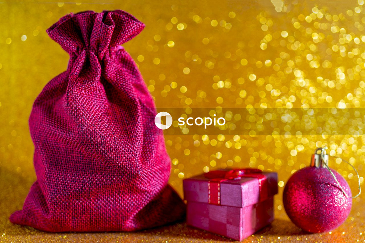 Christmas wrapped gifts and decoration