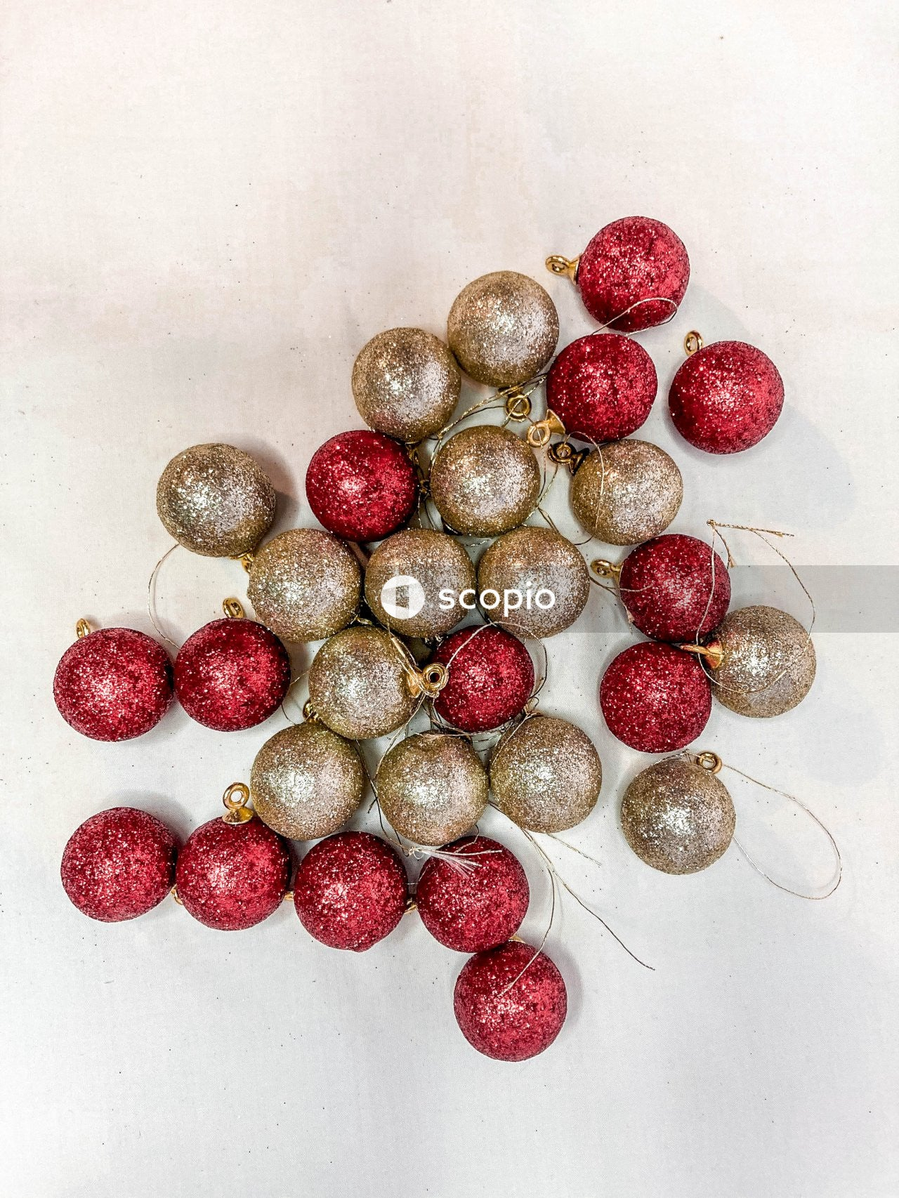 Red and brown round fruit