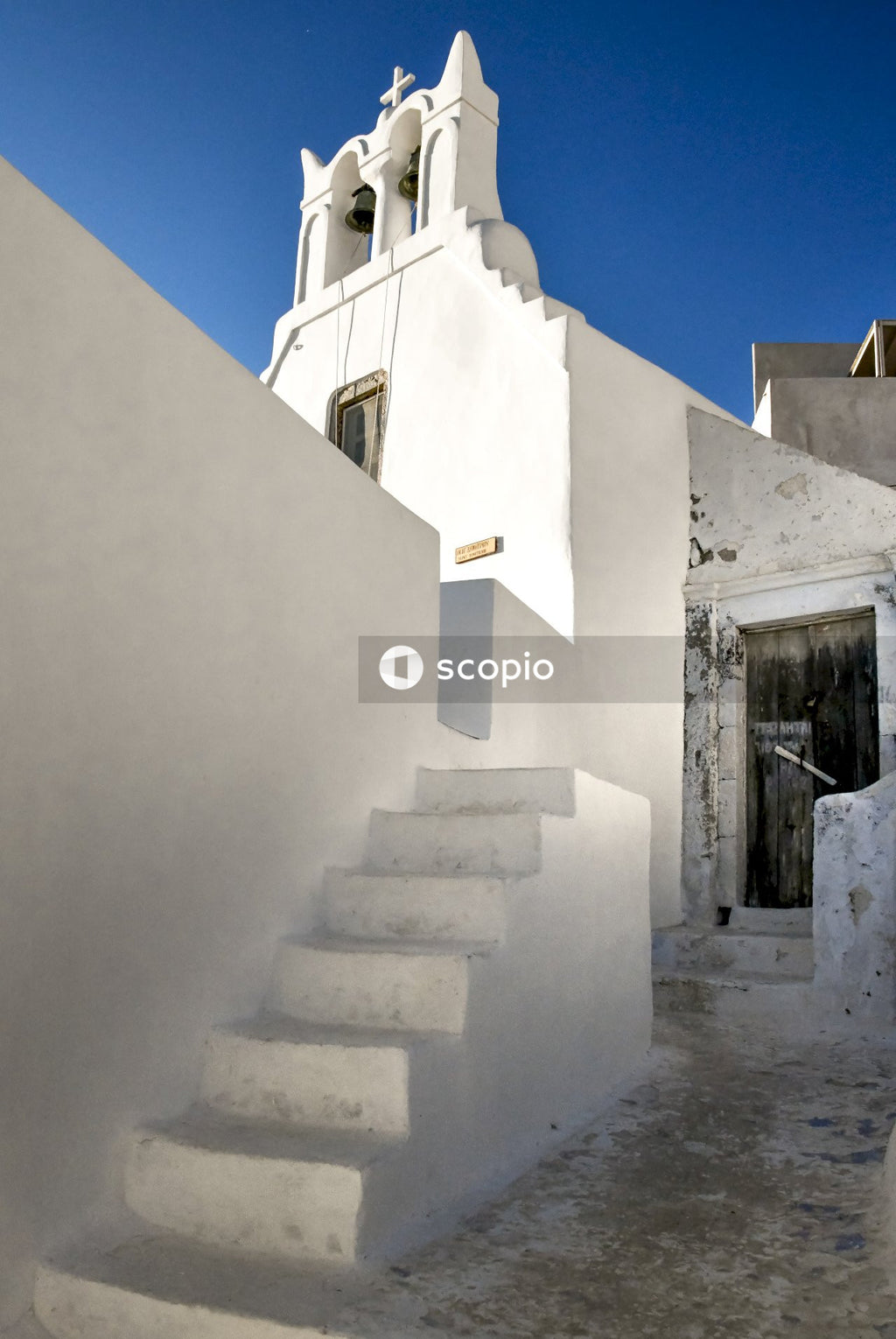 White concrete stairs