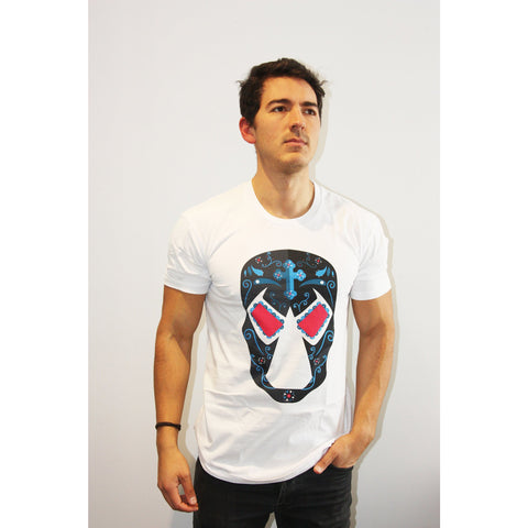 Bane Day of the Dead T Shirt - Mexican Wrestling Masks - Lucha Libre Mask