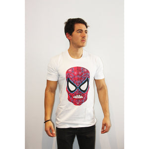 Spider Man Day of the Dead T Shirt - Mexican Wrestling Masks - Lucha Libre Mask