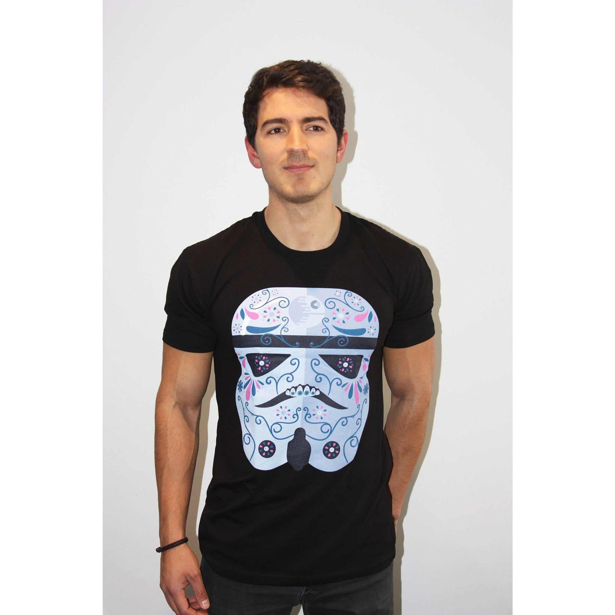 Storm Trooper Day of the Dead T Shirt - Mexican Wrestling Masks - Lucha Libre Mask