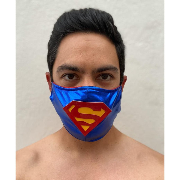 Superman Face Mask - Mexican Wrestling Masks - Lucha Libre Mask