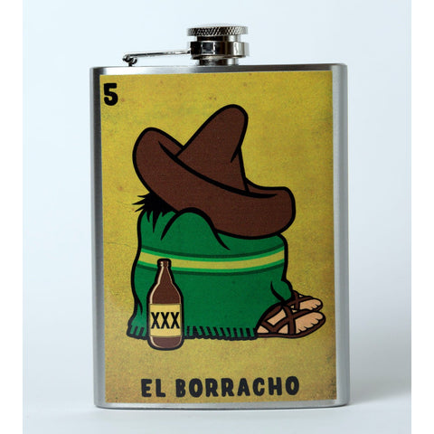 El Borracho Flask - Mexican Wrestling Masks