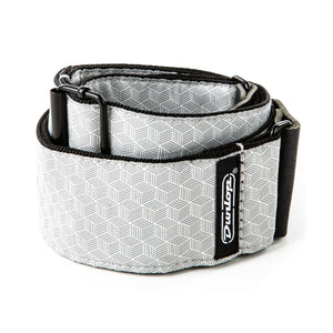 Dunlop Jacquard Cube Hatch Light Grey Strap
