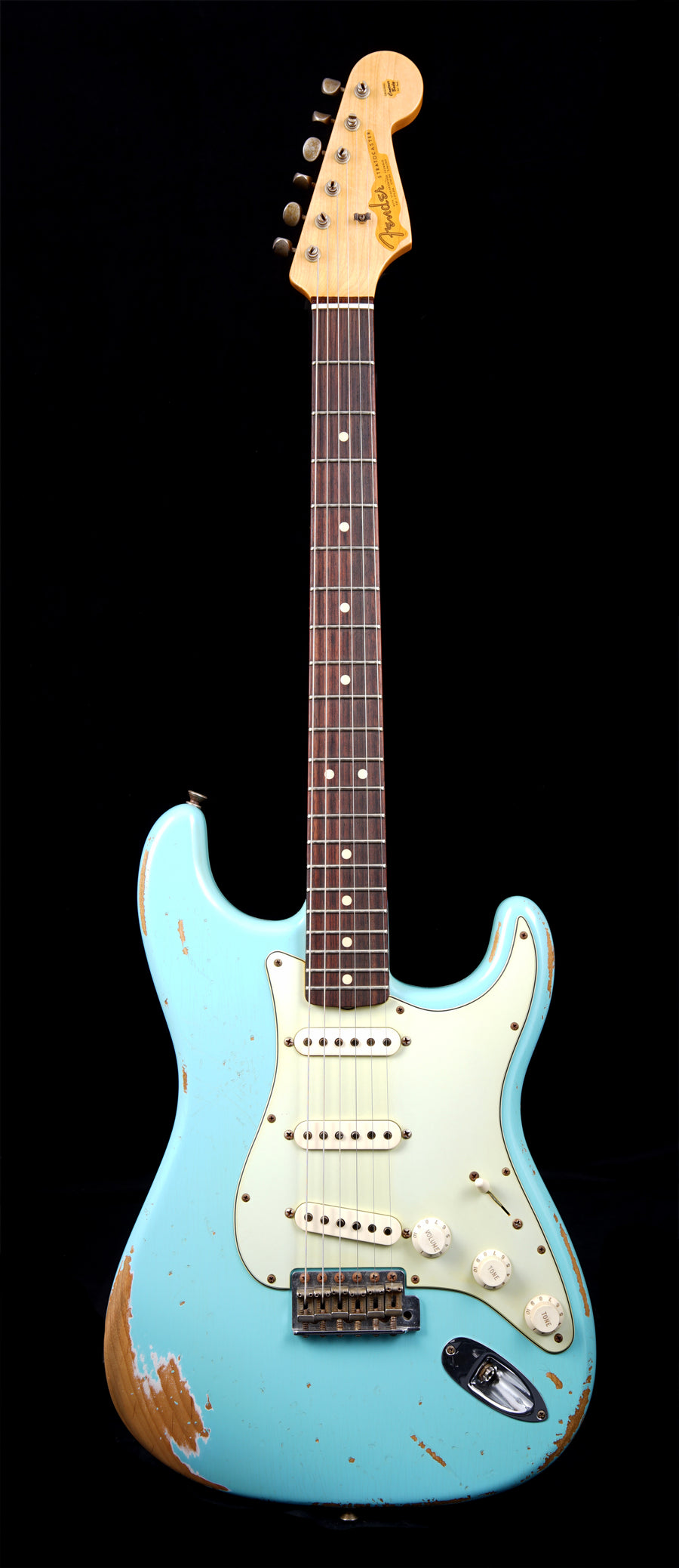 Fender Custom Shop '63 Heavy Relic Stratocaster - Daphne Blue