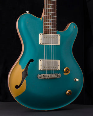 Nik Huber Dolphin II Hollow Body Prototype - NAMM Guitar - Aged Ocean Turquoise