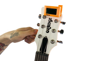 Orange Clip On Guitar Tuner