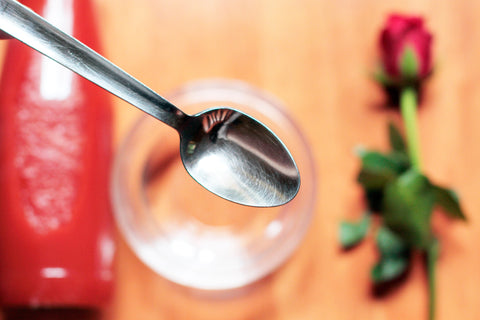 add 3 tablespoons of rose hydrosol water in face wash mixture
