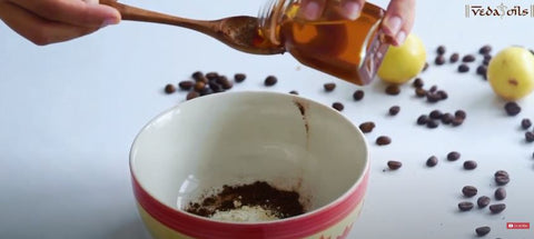add honey and yogurt in coffee face mask