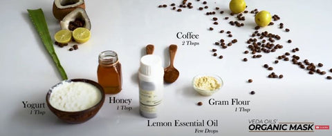 homemade coffee face mask ingredients list