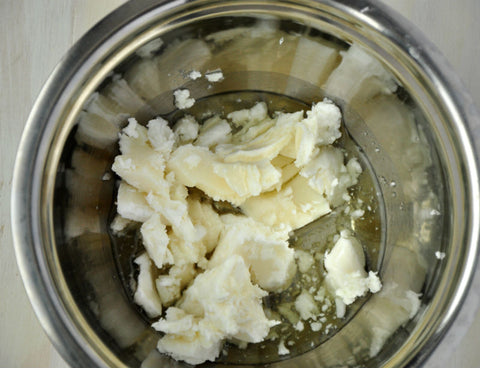 mix shea butter with beewax
