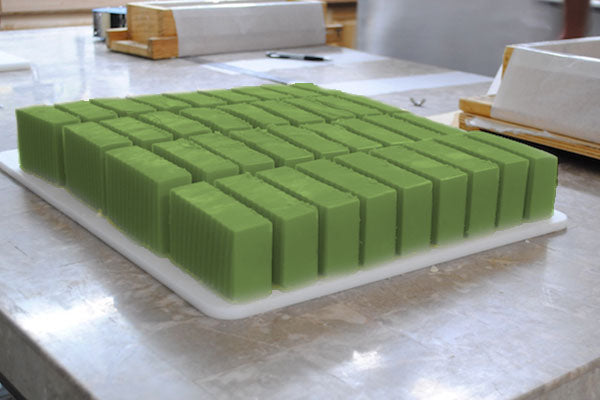 Release DIY Aloe Vera Soap Bars from Moulds