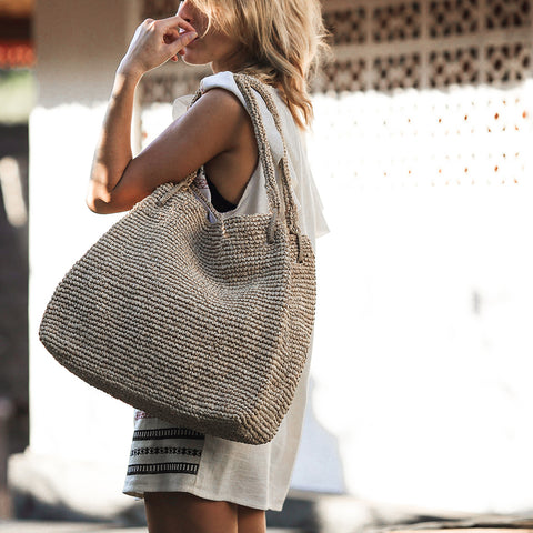 Straw Bag for Fall
