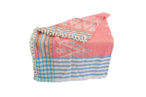 The Pom Pom Beach Towel - MOOS STRAW BAGS