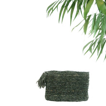 The Straw Woven Clutch Black - MOOS STRAW BAGS