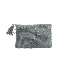 The Straw Woven Clutch Grey - MOOS STRAW BAGS