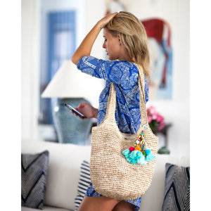 The Straw Hobo Bag Sand - MOOS STRAW BAGS