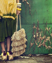 The Straw Fringe Bag - MOOS STRAW BAGS