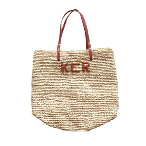 The Monogram Straw Bag - MOOS STRAW BAGS