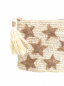 The Star Straw Clutch - MOOS STRAW BAGS