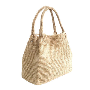 The Straw Handbag Sand - MOOS STRAW BAGS