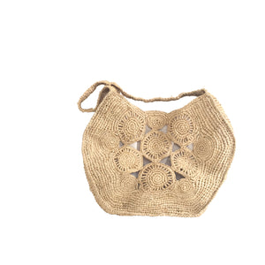 The Straw Round Flower Bag - MOOS STRAW BAGS